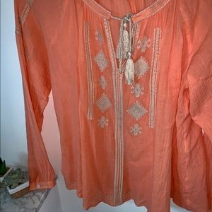 Loft xsp embroidered blouse
